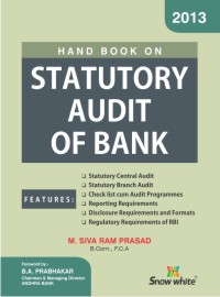 HAND BOOK ON STATUTORY AUDIT OF BANK